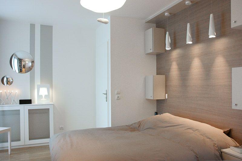 duplex familial  chambre parentale Déco Pinterest Bedrooms - farbgestaltung fur schlafzimmer das geheimnisvolle lila