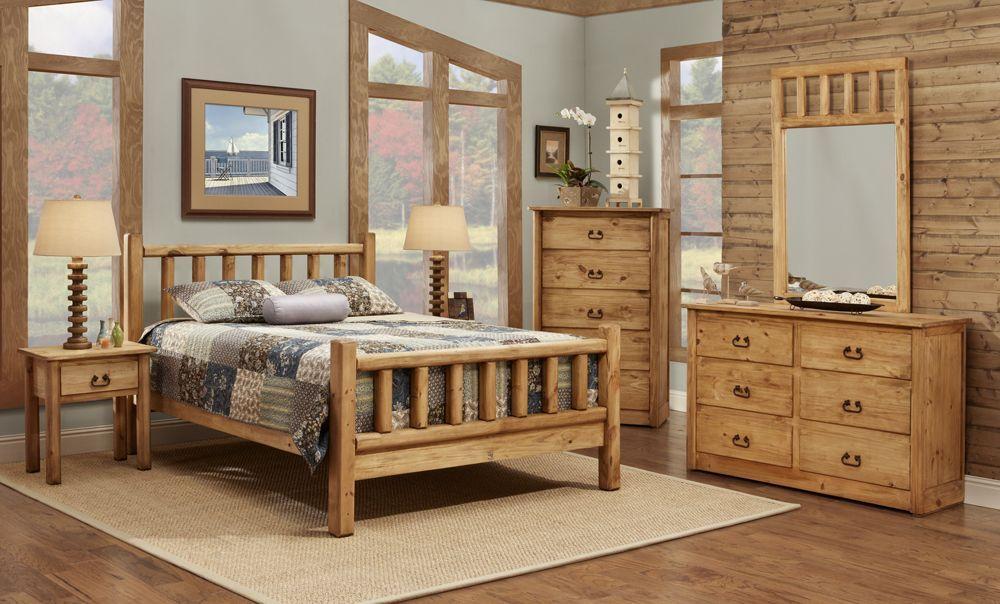 """New 5pc queen bedroom set. The """"Tamarack"""" is complete Pine"""