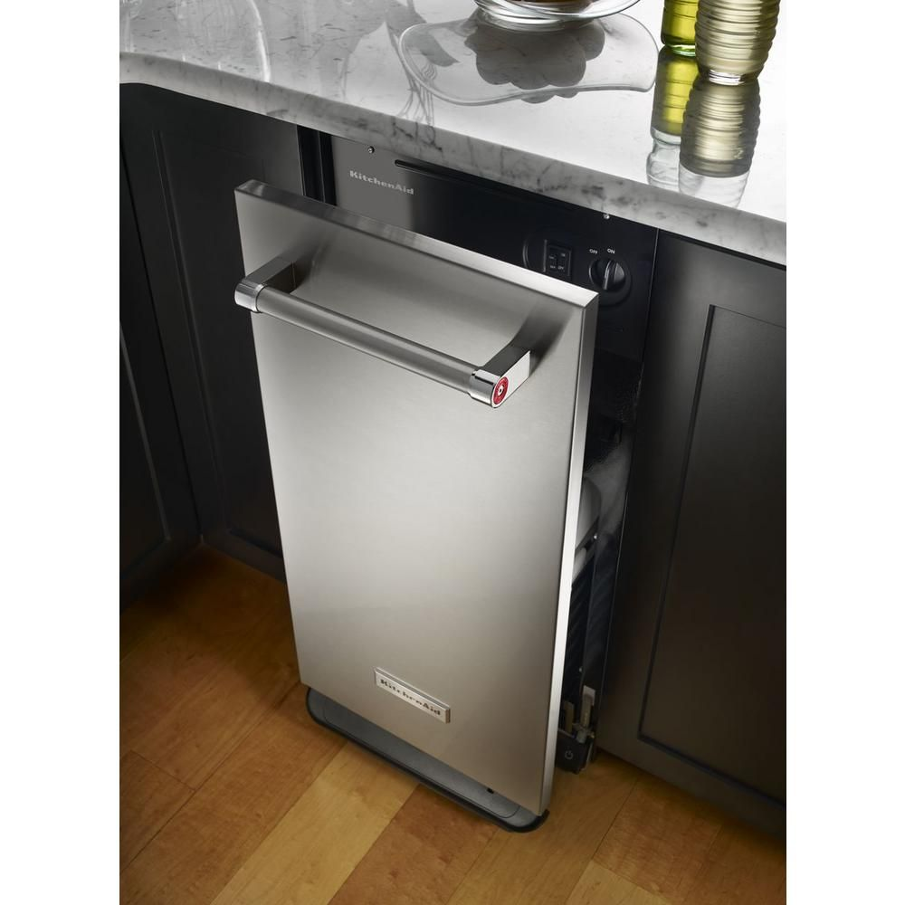 Kitchenaid 15 in builtin trash compactor in stainless