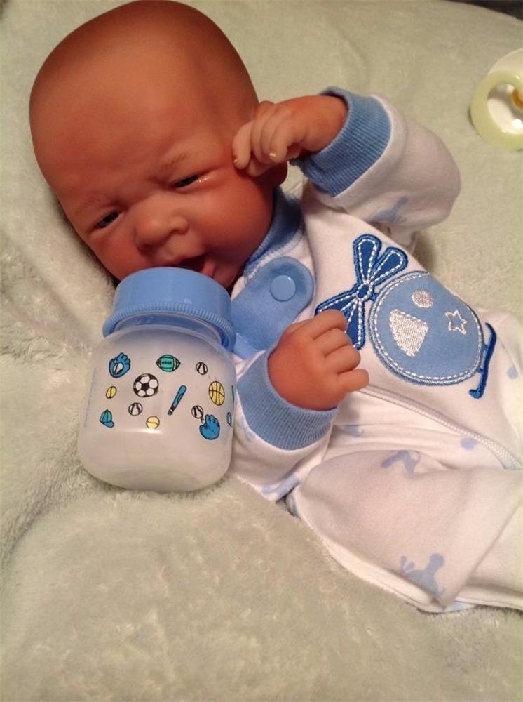 Baby Boy Flying In Reborn Preemie Lanewborn W Bottle