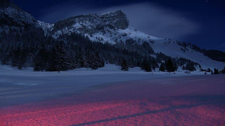 Berge Landschaft Nacht Schnee 5k Wallpaper Hdwallpapersmafia Berge
