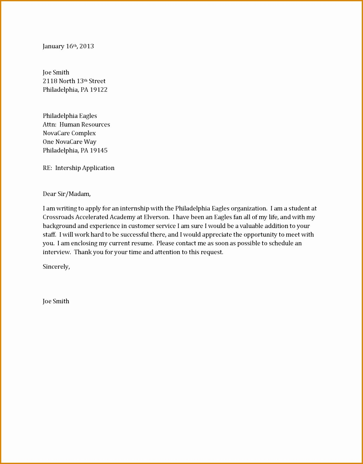 Cover Letter Sample For Job Application Doc Cover Letter For