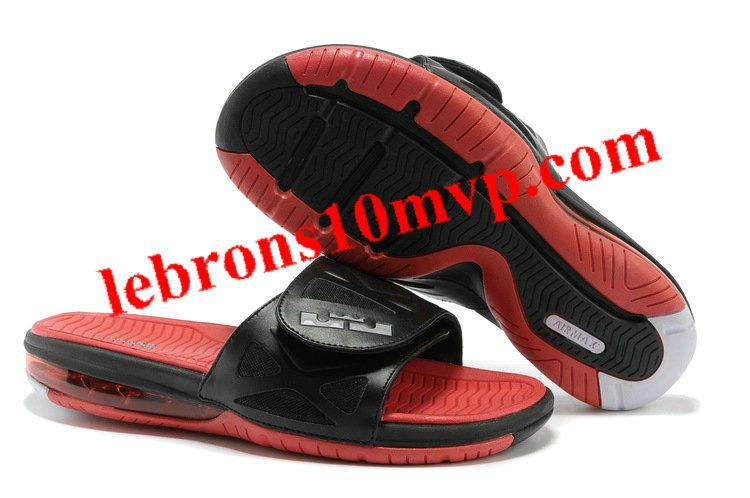 Nike Air Lebron 10 Slippers Black/Red/WhiteSale OnlineOutlet Store