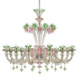 """Ines"" Murano glass chandelier – Murano glass chandeliers"