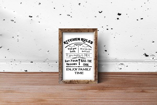 Kitchen Rules Sign #kitchenrules