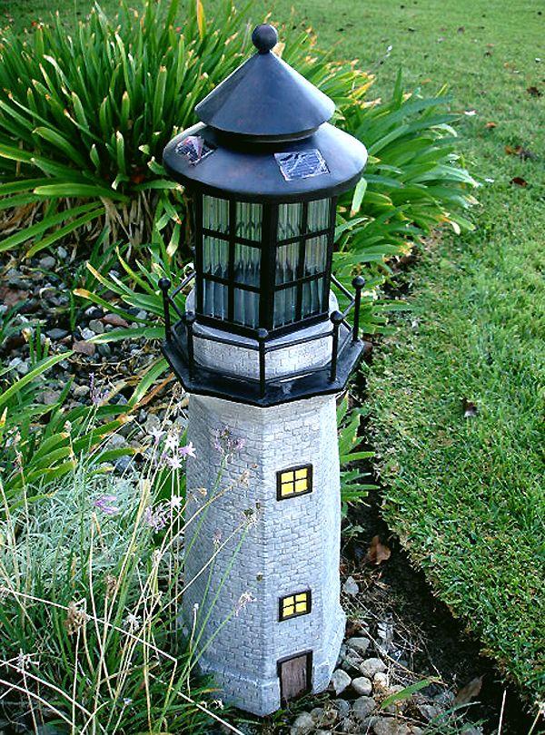 Lighthouse Solar Light 4 Amber Leds Solar Lights Garden Solar