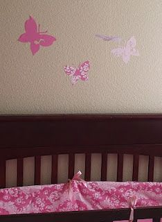 Fabric  The light brown fabric in this nursery provide a safe and fuzzy feel for the baby. The fuzz gives off a stucco look at first, but for the texture wanted and the baby's safety and comfort, soft carpet is used instead.