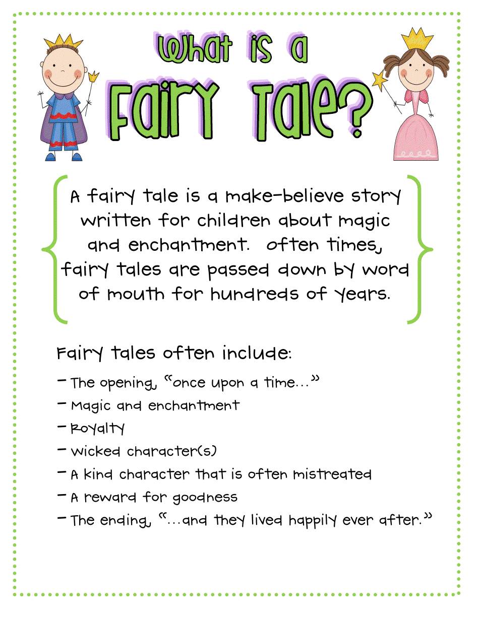 picture relating to Printable Fairy Tales Pdf identified as FairyTale_AC.pdf Training Fairy stories gadget, Fairy stories