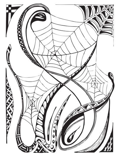 FREE Halloween Adult Coloring Page - Spider Web FREE Adult - copy make your own coloring pages online
