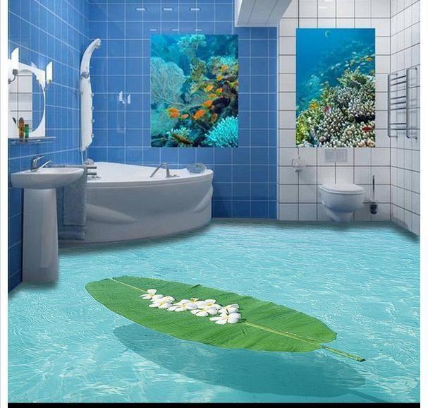 3d Wallpaper Custom Mural Beauty 3 D Marine Indoor Stereo Bathroom Floor Toilet Bedroom Wallpaper Murals Custom Murals Floor Wallpaper