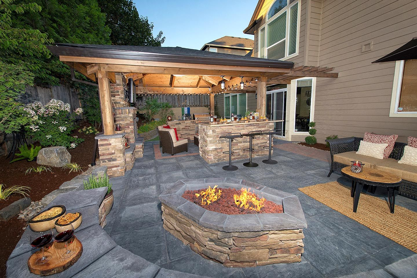 Backyard Landscape Design #landscapingdesign