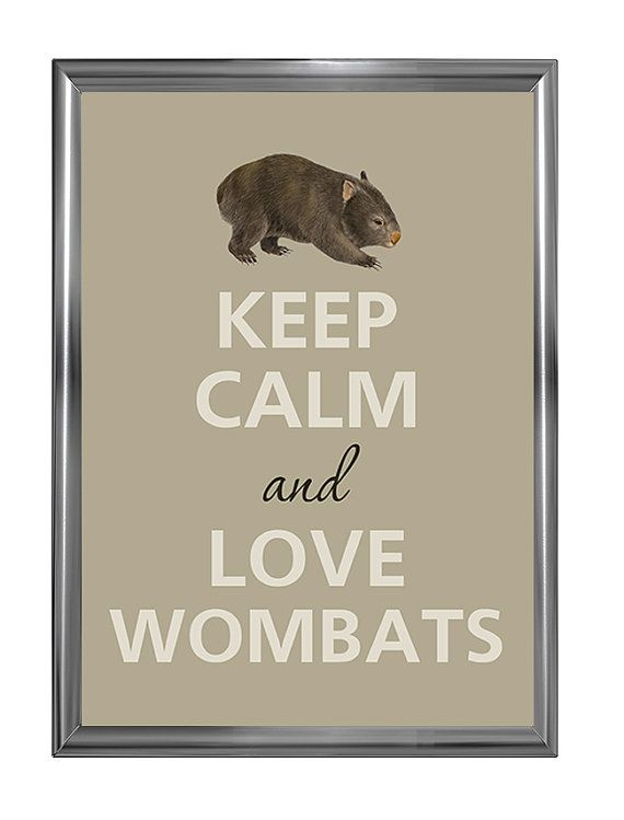Keep calm and love wombats   https://www.etsy.com/listing/385097992/keep-calm-and-love-wombats-art-print?ref=shop_home_active_1