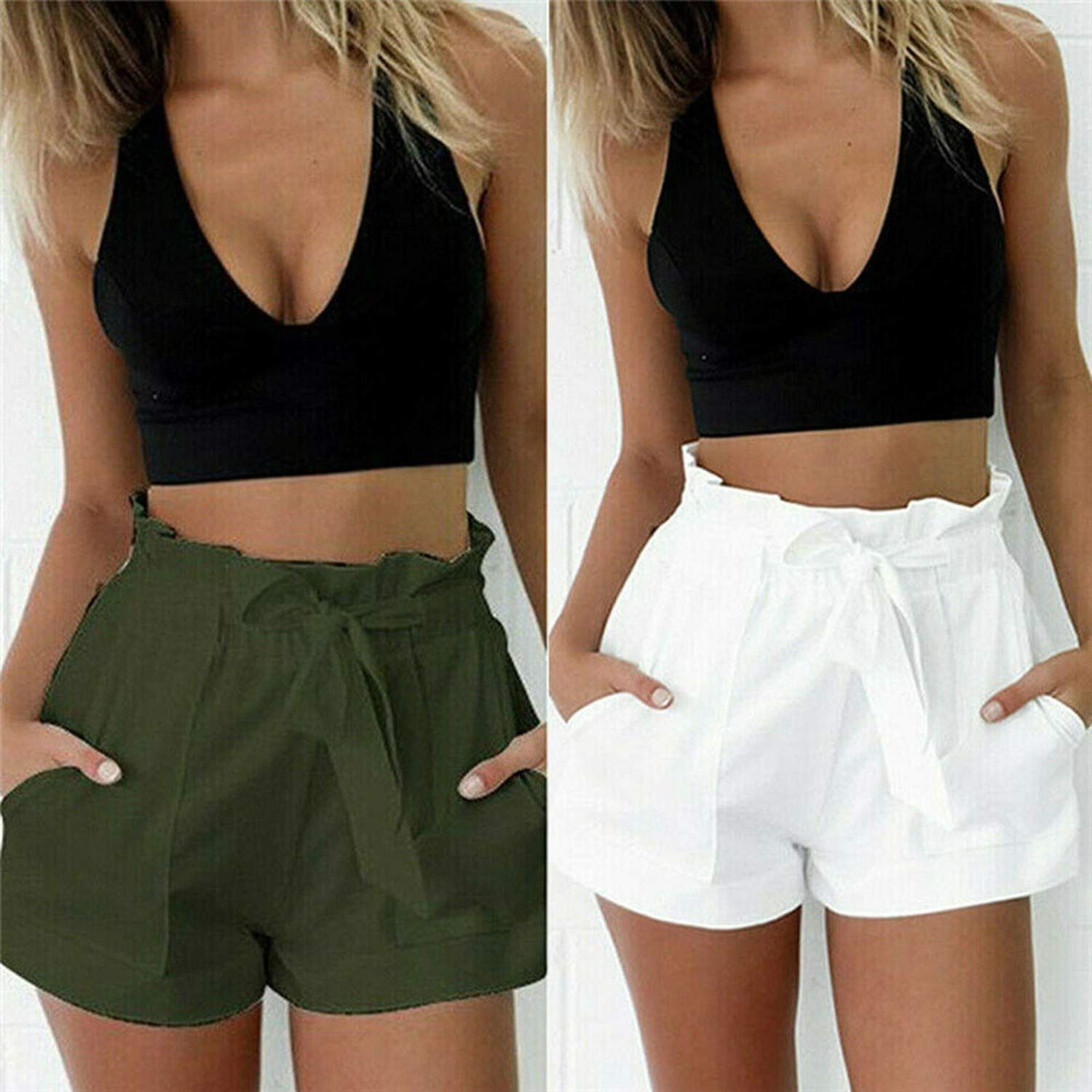 Ladies Cotton Shorts Summer Holidays Beach Wear Casual  Swimming Pants Shortie