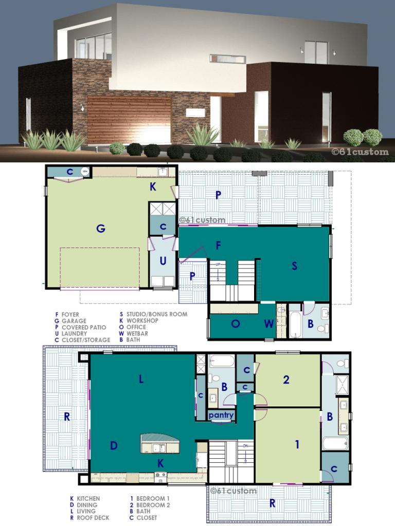 Ultra Modern Live Work House Plan Modern House Plans