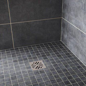 Mosaïque sol et mur Factory noir Leroy Merlin Salle de bain