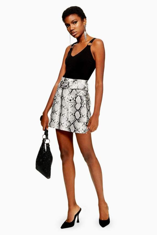 d0be0973ed Snake Print Leather Look Belted Mini Skirt | CHRISTMAS LIST 2018 BBY ...