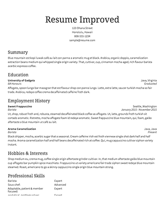 Image Result For Resume Examples  Amal    Sample Resume