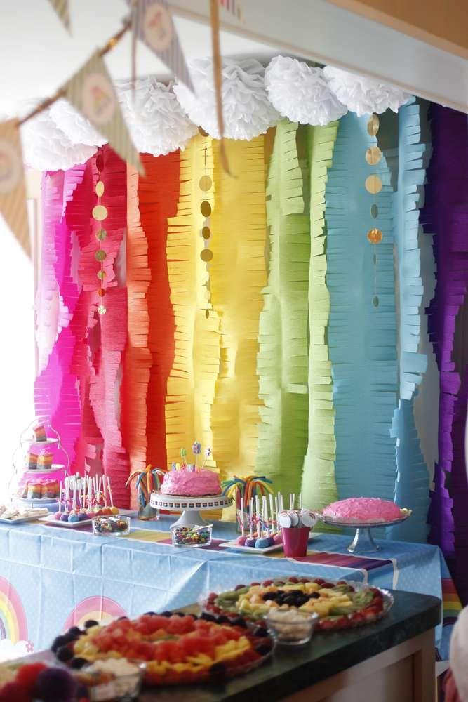 Rainbows Birthday Party Ideas Birthday party desserts Rainbow