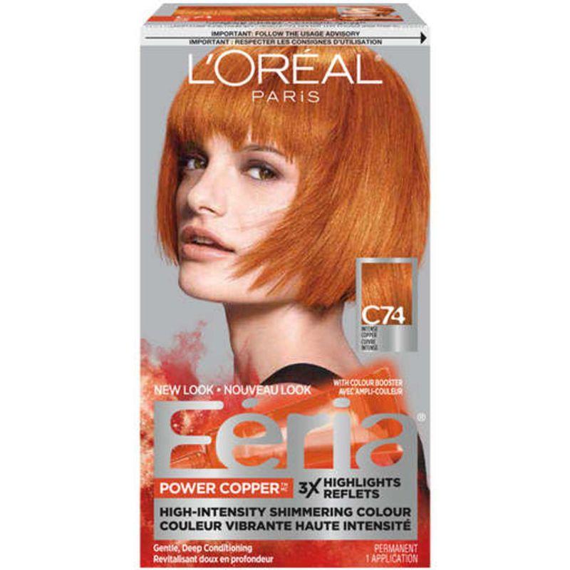 Feria Power Copper Loreal Paris Permanent Hair Color Copper Hair