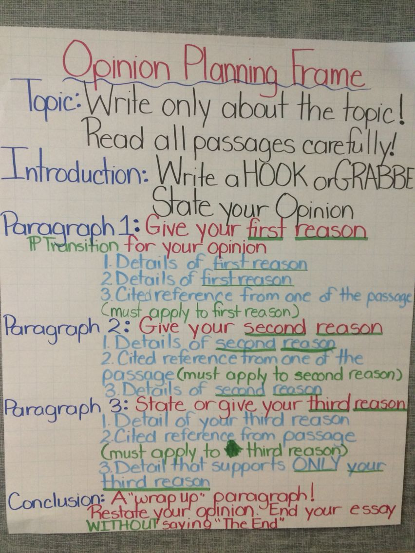 Opinion Writing Plan Anchor Chart 6th Grade Writing Opinion Writing Activities Persuasive Writing How to write opinion paragraph grade