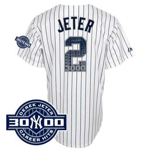 finest selection a3d37 9095d Jeter 3000 hit jersey | team sports | 3000 hits, Derek jeter ...