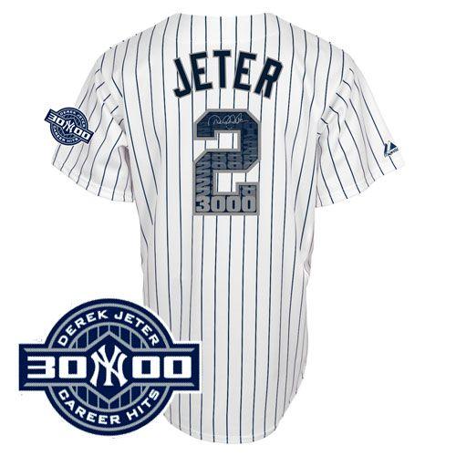 finest selection db9f0 3cc80 Jeter 3000 hit jersey | team sports | 3000 hits, Derek jeter ...