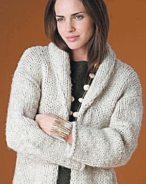 Free Knitting Pattern 50924AD Autumn Afternoons Cardigan : Lion Brand Yarn Co...