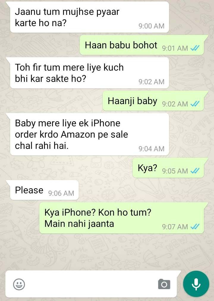Indian whatsapp chats that are really stupid yet