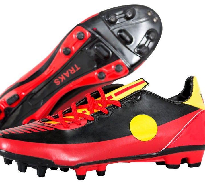Aboriginal flag football boots - Available through Traksports.