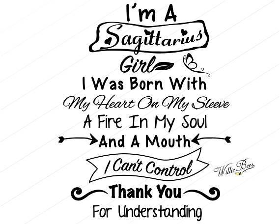 Sagittarius Svg I M A Sagittarius Girl Birthday Girl December