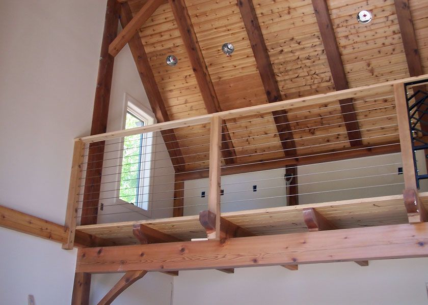 Best Indoor Cable Cool Idea Loft Railing Cabin Loft Rustic 400 x 300
