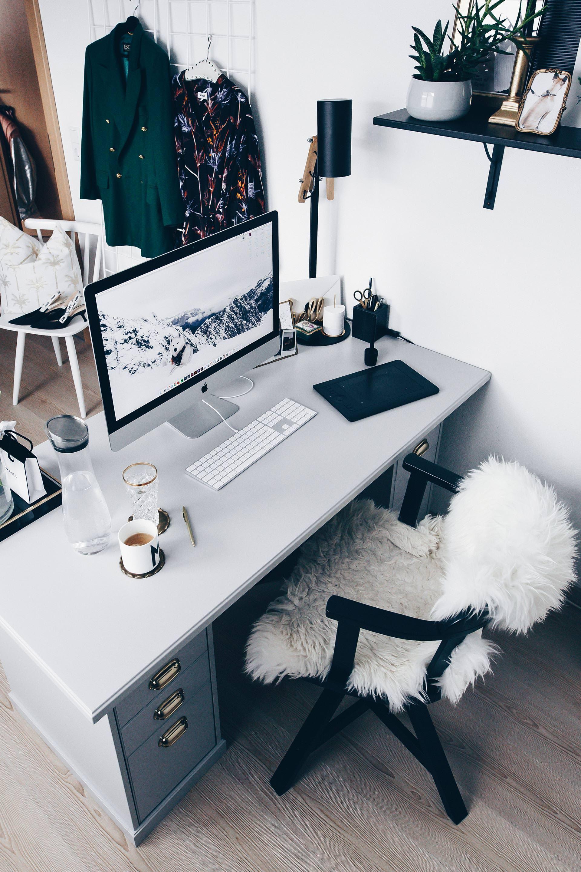 Erstaunlich Arbeitsplatz Zuhause Einrichten Und Gestalten, 5 Ideen Für Mehr Stil Im  Blogger Home Office,