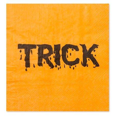30 Watt Halloween Trick-Or-Treat Napkins 20 ct - Orange  Target