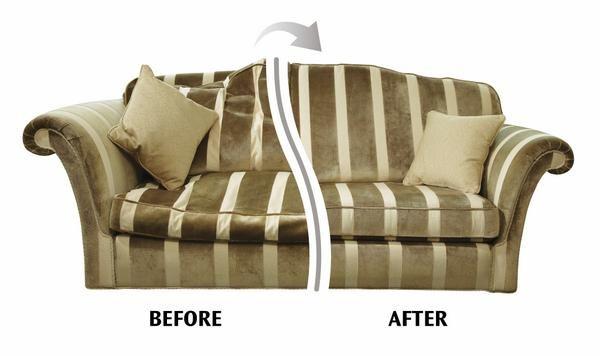 Cushion Refilling Solves Saggy Sofa Cushion Problems.