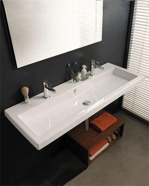Nameeks Tecla Extra Wide Sink Rectangular Sink Bathroom Wall
