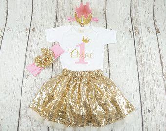 Verbazingwekkend baby 1e verjaardag tutu outfit meisjes eerste verjaardag (met CL-69