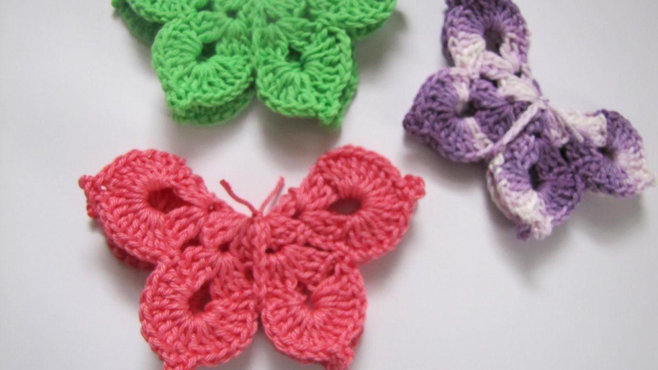 Schmetterling Häkelanleitung Frühlingsdeko Youtube Häkeln