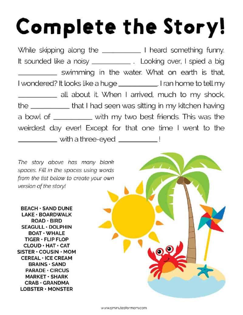 Summer Word Search Puzzles For Kids 5 Minutes For Mom Summer Words Puzzles For Kids Summer Fun For Kids [ 1035 x 800 Pixel ]