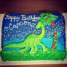 The Good Dinosaur cake Sierus dinosaur party Pinterest