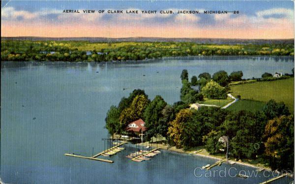 Aerial View Of Clark Lake Yacht Club Jackson Mi Jackson