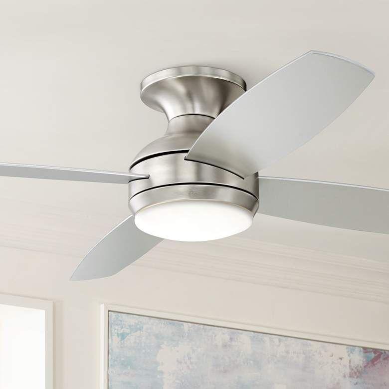 52 Casa Elite Brushed Nickel Led Hugger Ceiling Fan 8y397
