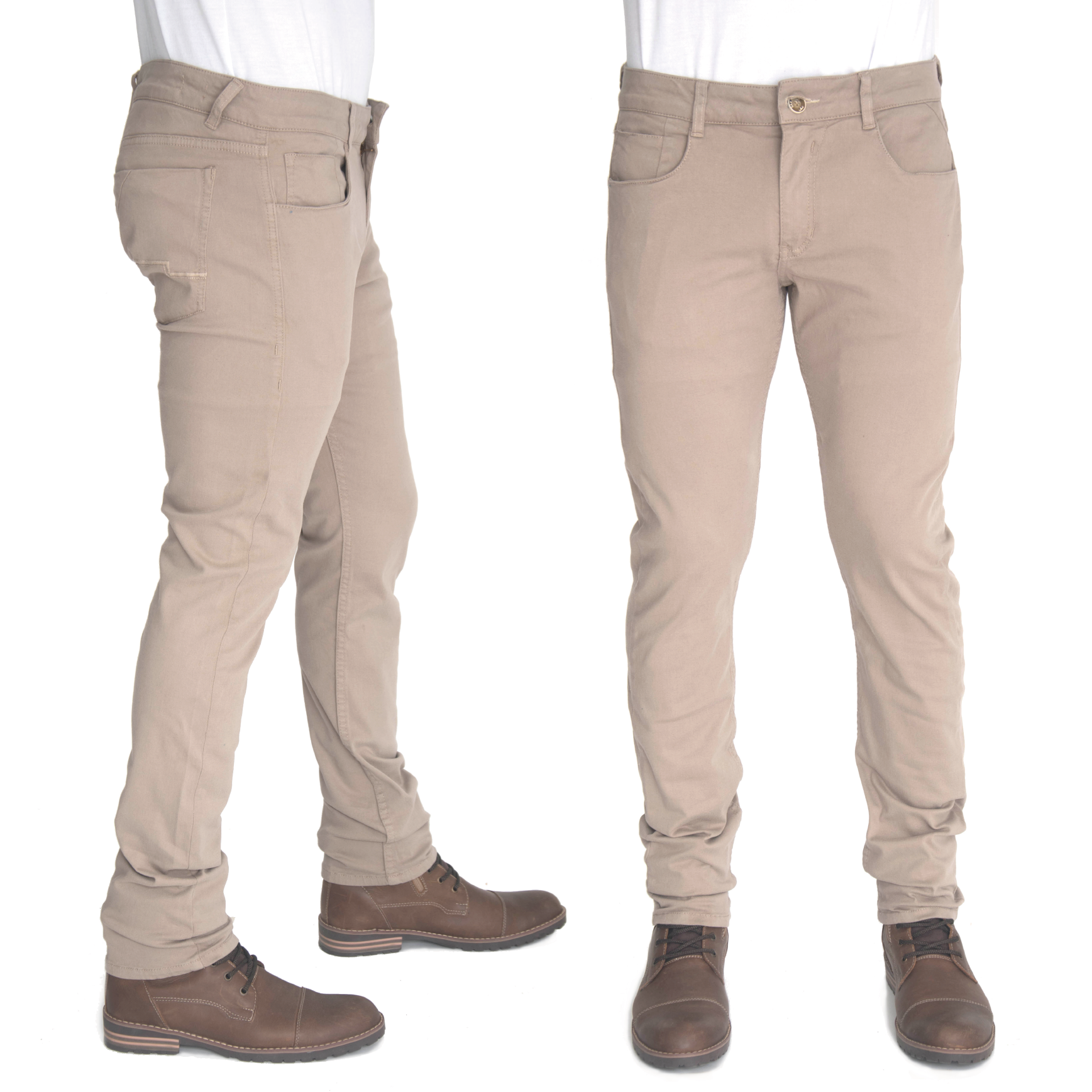 277d492b0bc52 Como combinar un par de pantalones kaki  una camisa manga larga azul oscura  y unos