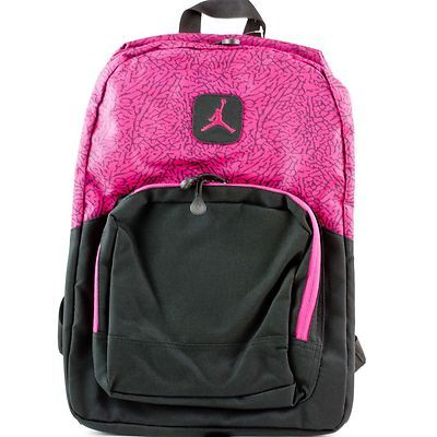 688a3106a0b3 ... boys backpack Nike Air Jordan Pink Fireberry School Backpack Book Bag  ...