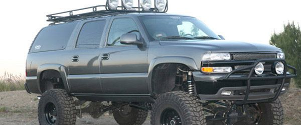 lifted jacked Chevrolet truck