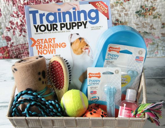 New Puppy Gift Basket for Dogs includes treats by SouthernDog89 #newpuppy