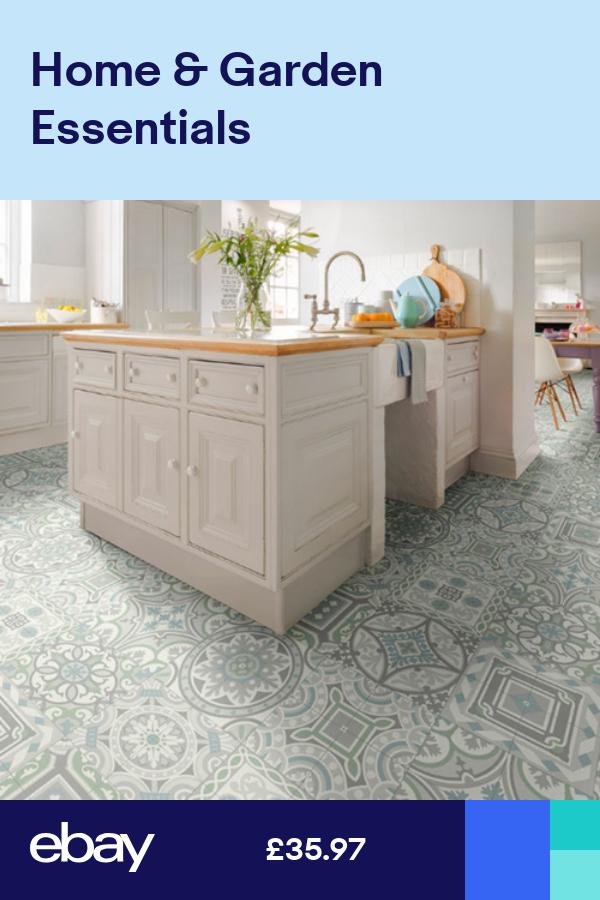 Moroccan Style Tile Effect Vinyl Flooring Cushioned Sheet Lino Roll Grey Safi 06 Ebay In 2021 Kitchen Flooring Inexpensive Flooring Wood Floor Kitchen