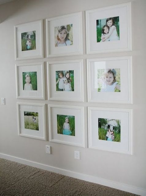 same size white frames for color shots - White Gallery Frames