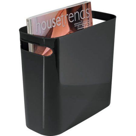 Interdesign Una Wastebasket 10 Inch Size 10 Inch Black Garbage Containers Canning Garbage Can