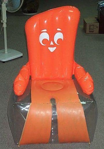 orange Gumby inflatable furniture