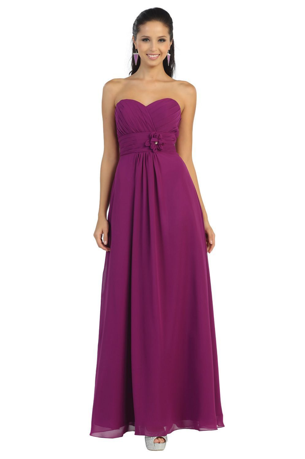 Thedressoutlet long chiffon plus size bridesmaid formal evening